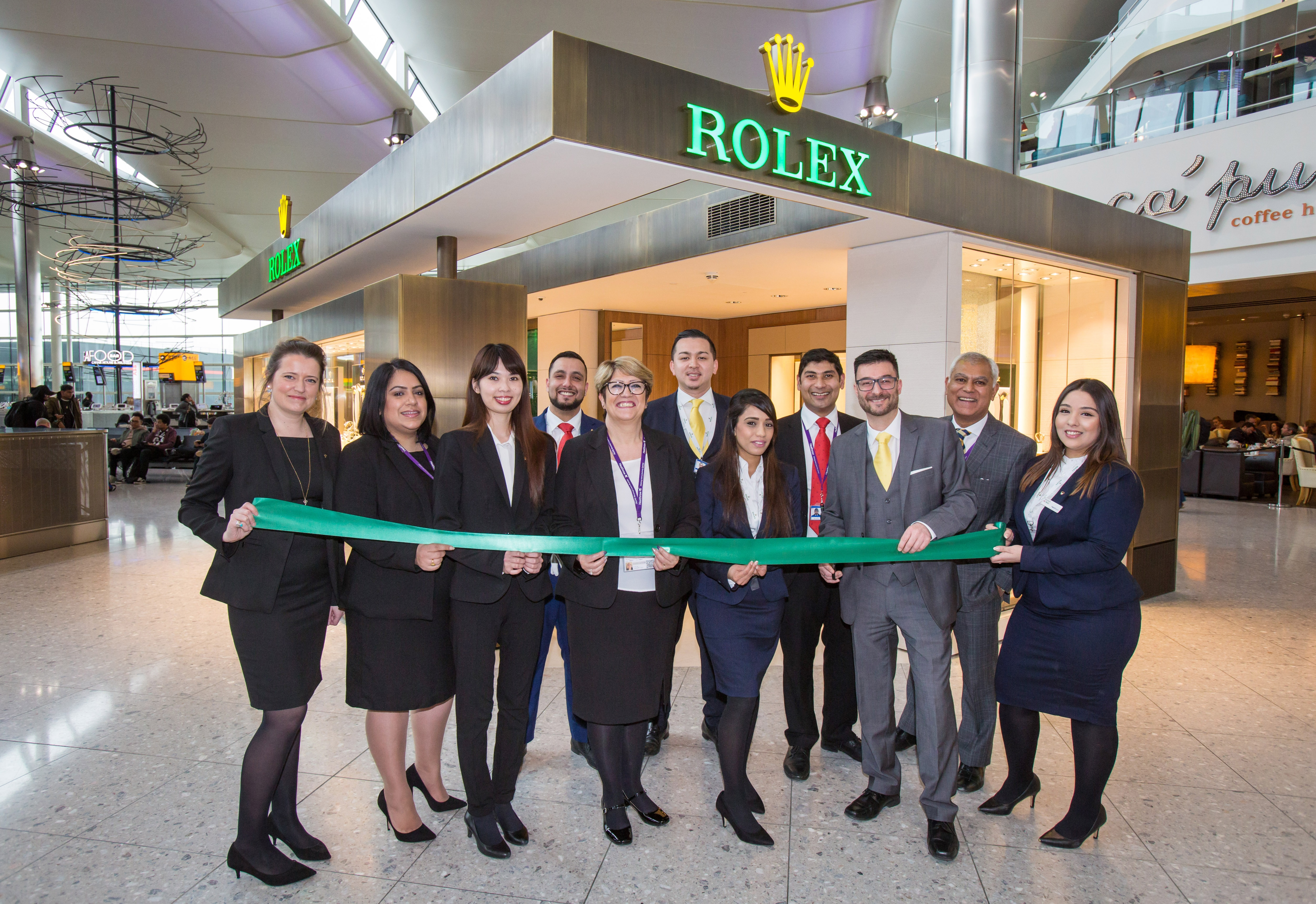 Rolex Showroom advisors opening the brand new boutique