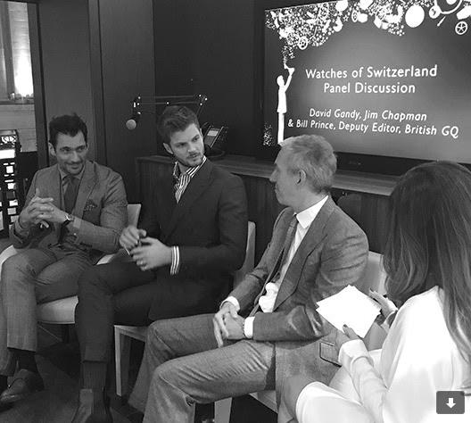 David Gandy, Jim Chapman and Bill Prince at Watches of Switzerland 155 Regent Street